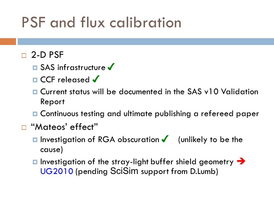 PSF and flux calibration