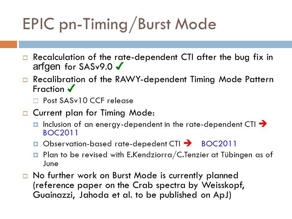 EPIC pn-Timing/Burst Mode