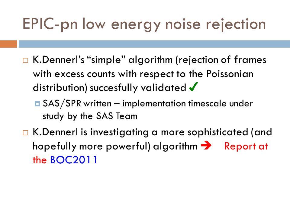EPIC-pn low energy noise rejection