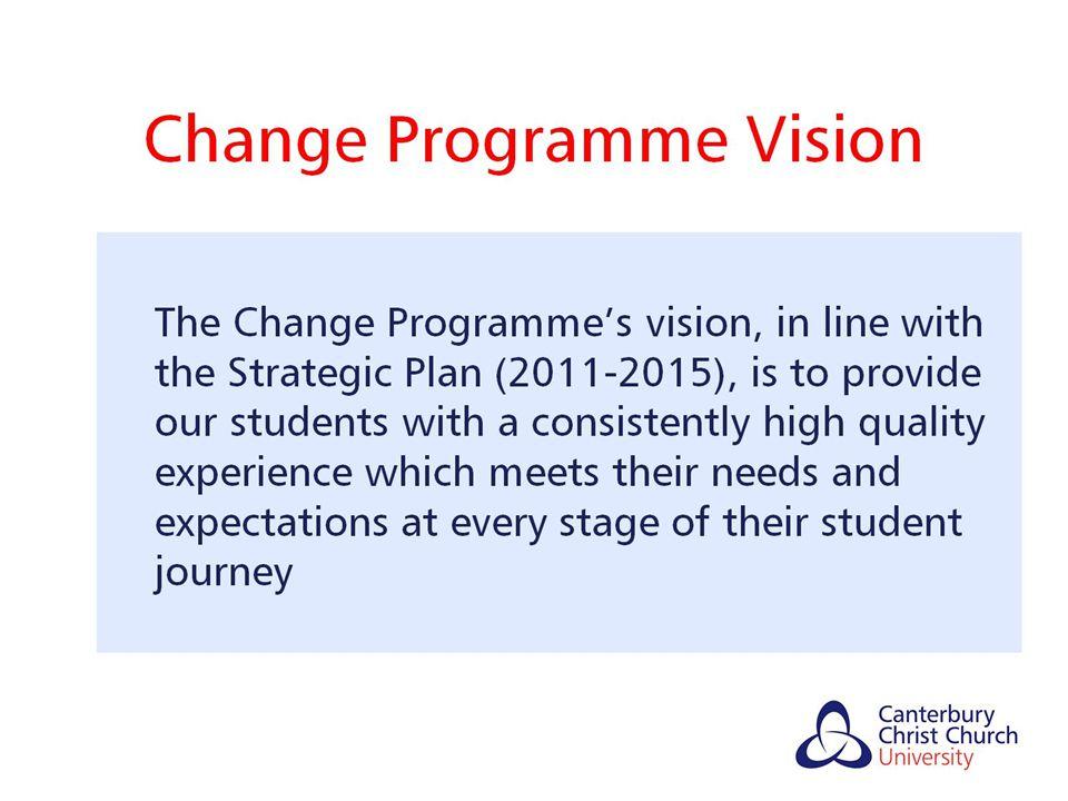 Change Programme Vision