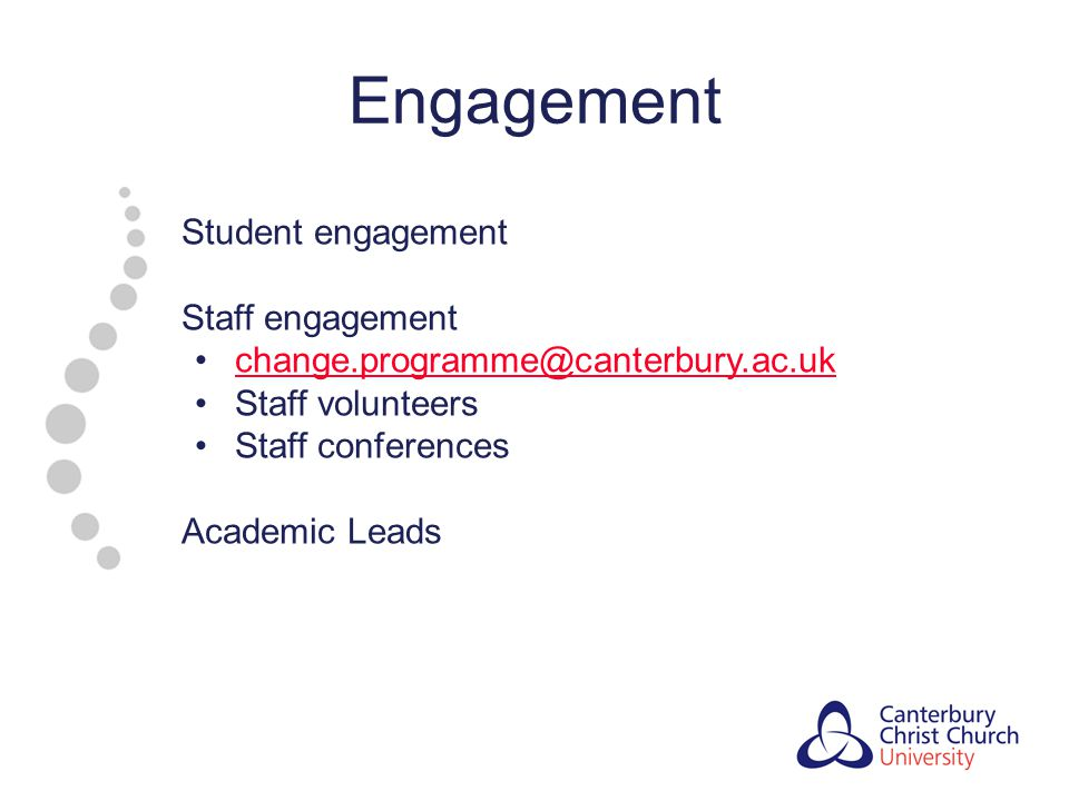 Engagement Student engagement Staff engagement