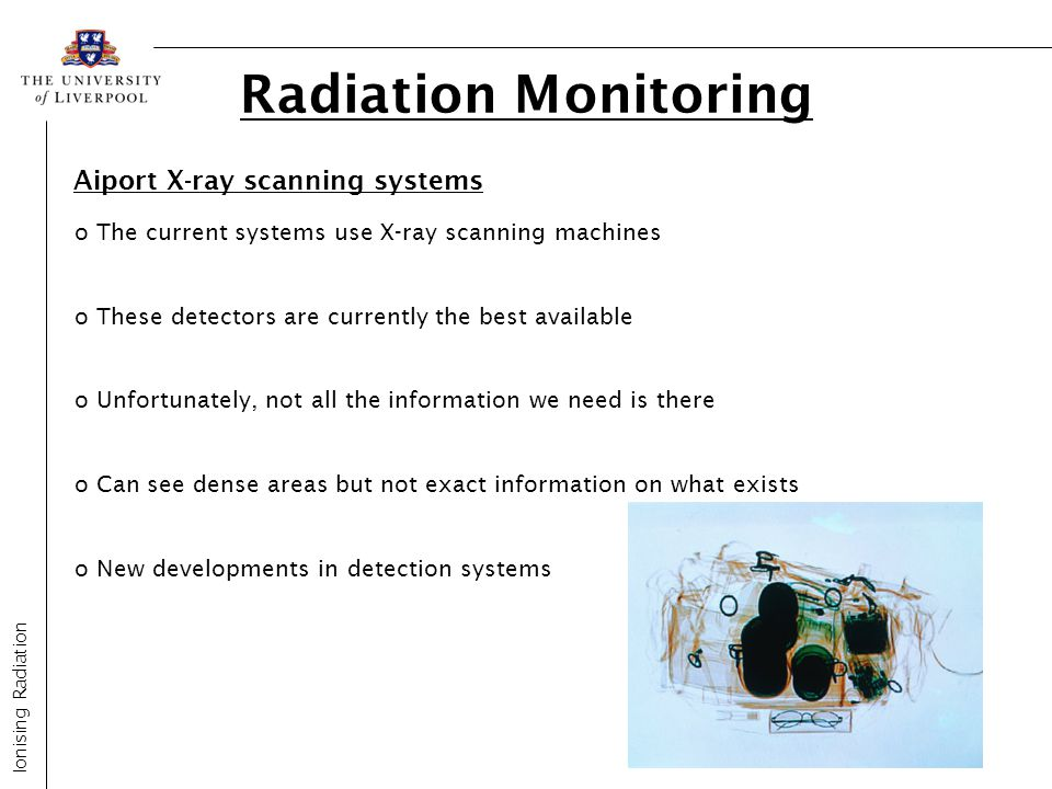 Radiation Monitoring Aiport X-ray scanning systems