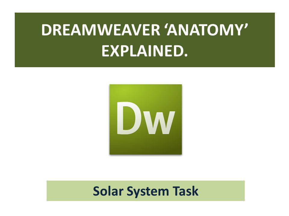 DREAMWEAVER 'ANATOMY' EXPLAINED.
