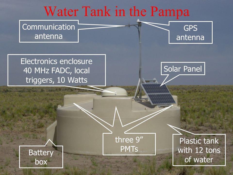 Water Tank in the Pampa Communication antenna GPS antenna