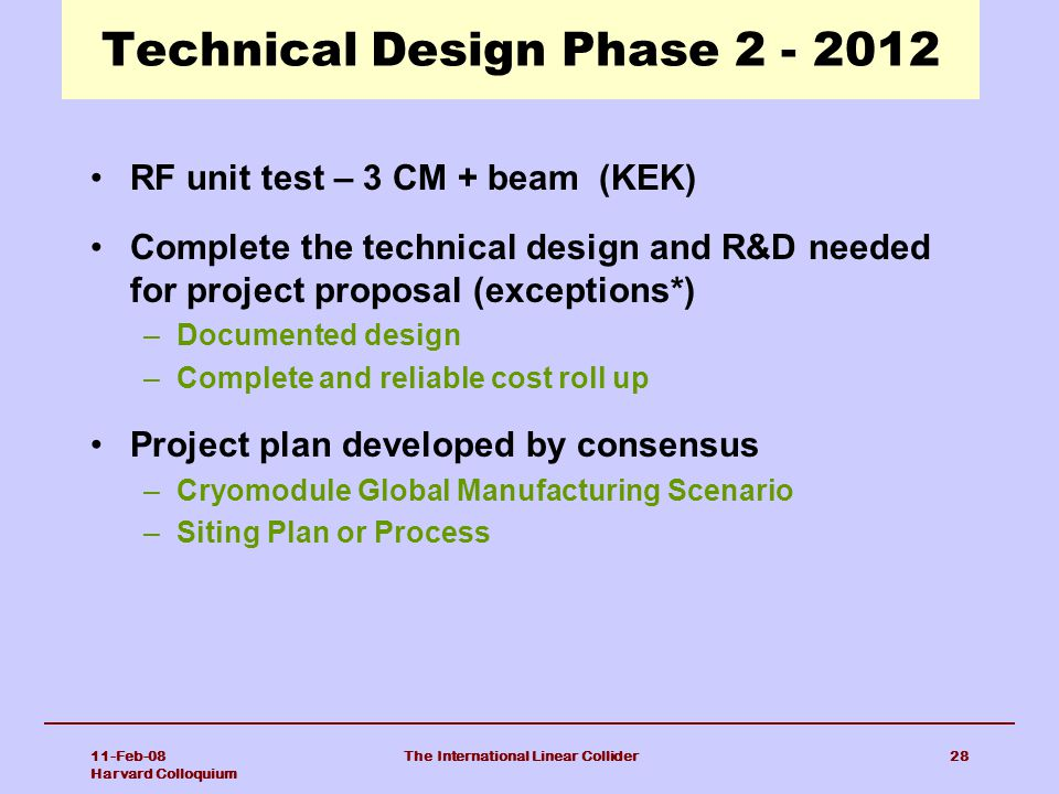 Technical Design Phase 2 - 2012