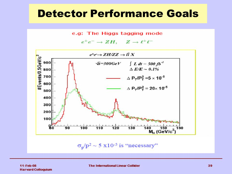 Detector Performance Goals
