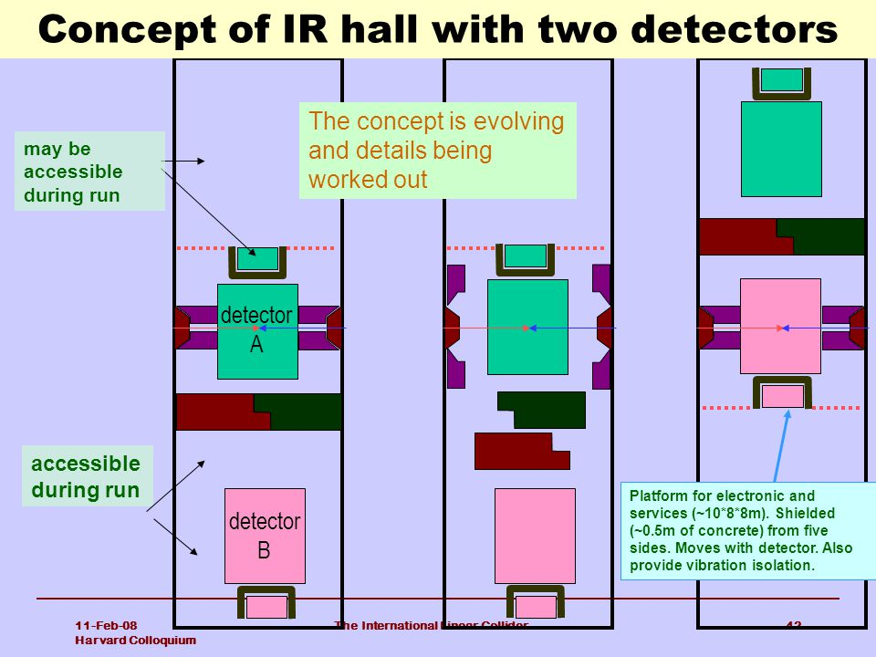Concept of IR hall with two detectors