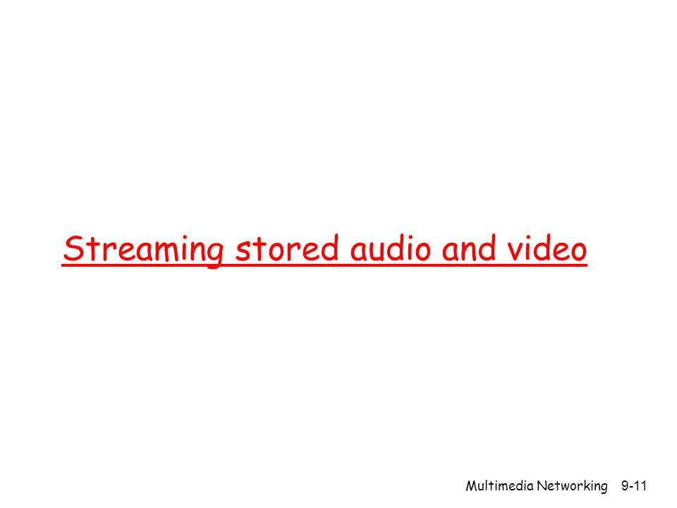 Streaming stored audio and video