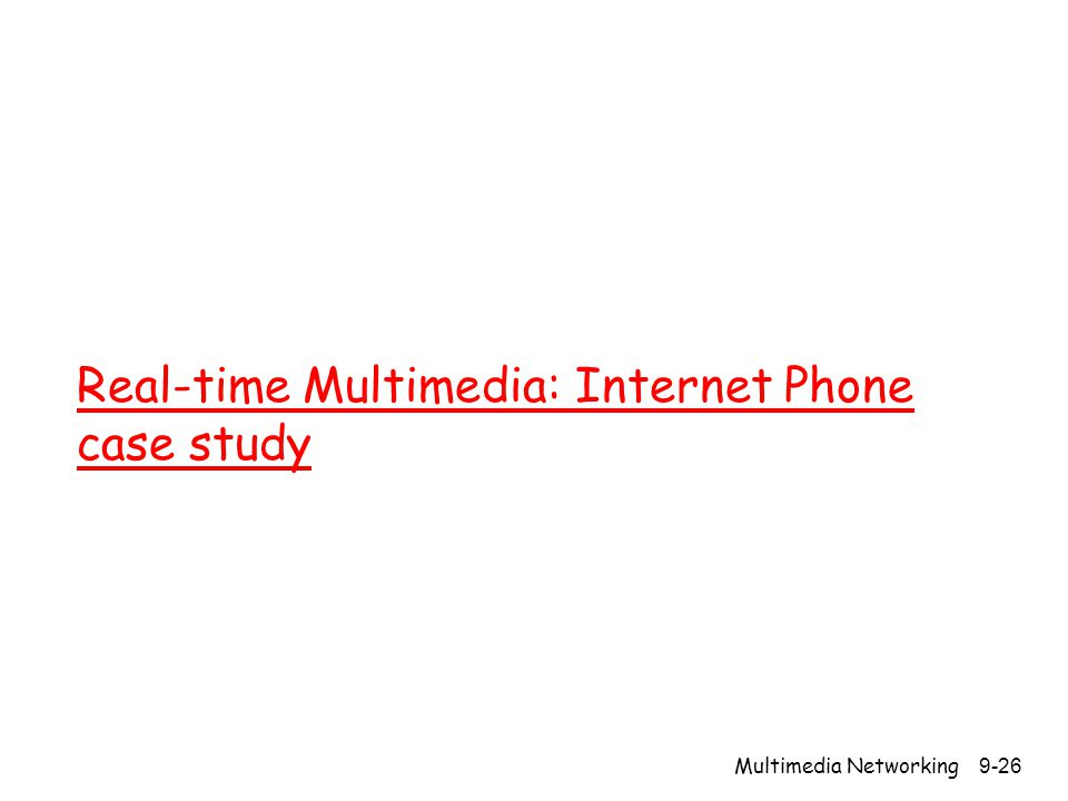 Real-time Multimedia: Internet Phone case study