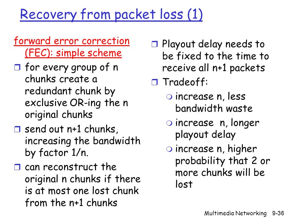 Recovery from packet loss (1)