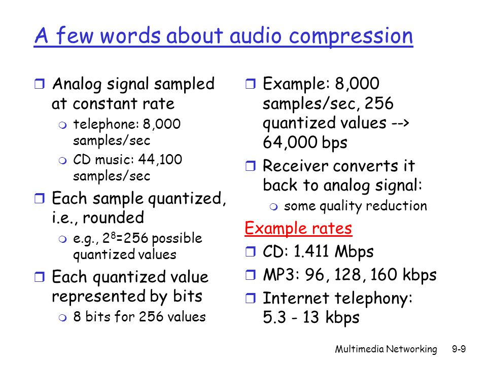 A few words about audio compression
