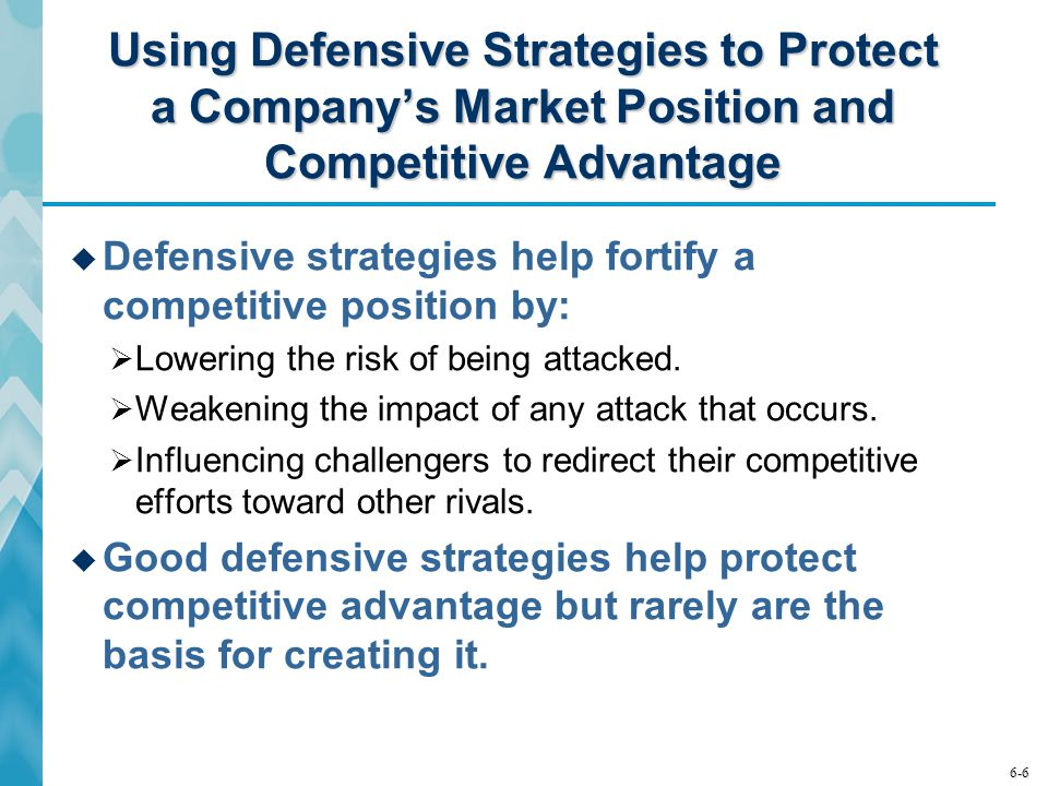 Using Defensive Strategies to Protect a Company's Market Position and Competitive Advantage