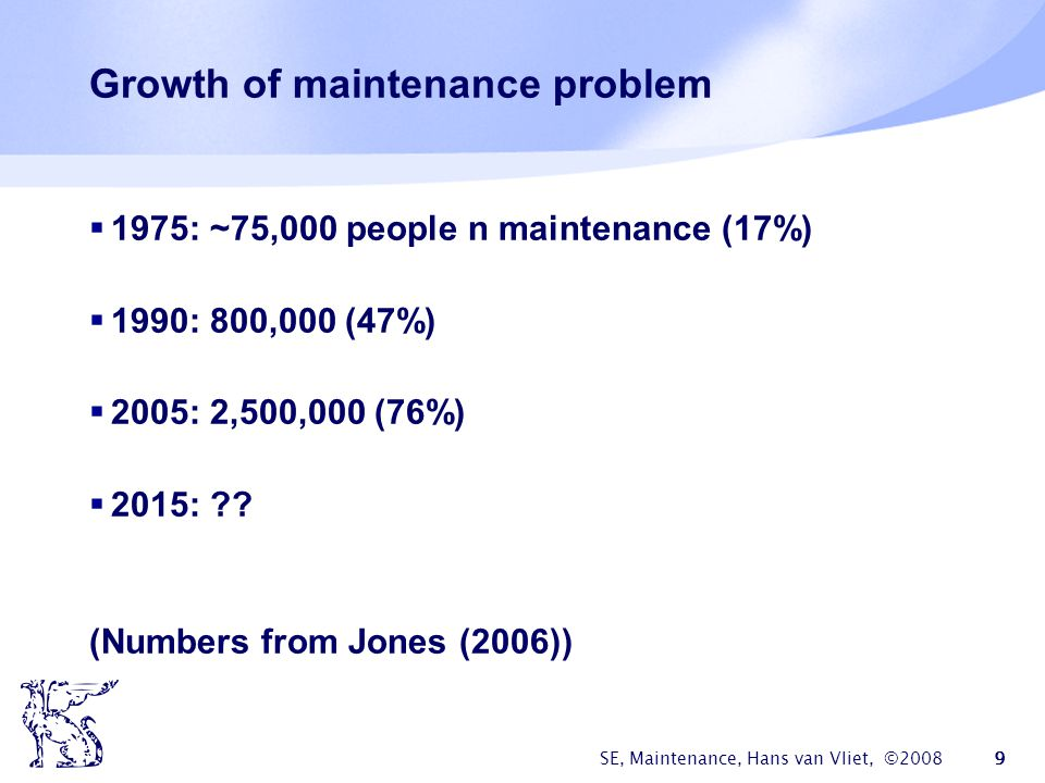 Growth of maintenance problem