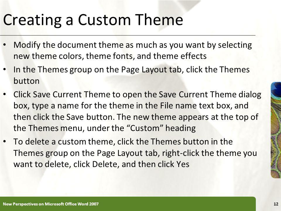 Creating a Custom Theme