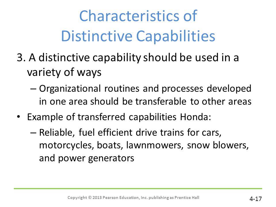 Characteristics of Distinctive Capabilities
