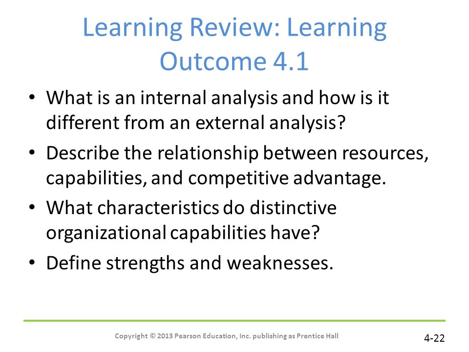 Learning Review: Learning Outcome 4.1