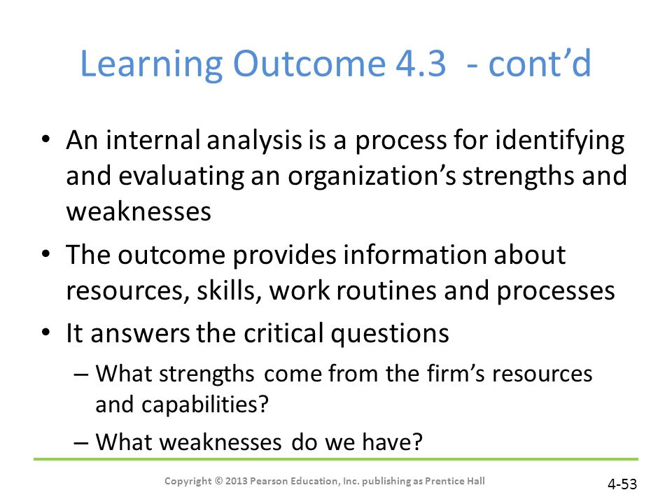 Learning Outcome 4.3 - cont'd