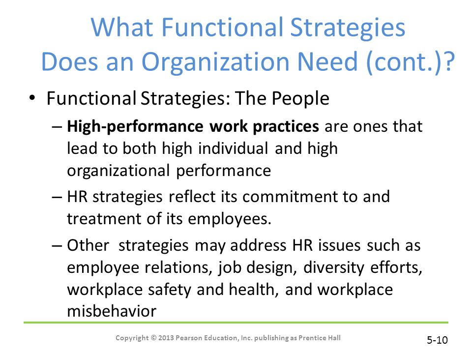 What Functional Strategies Does an Organization Need (cont.)