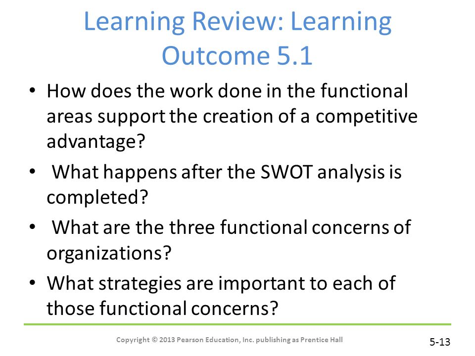 Learning Review: Learning Outcome 5.1