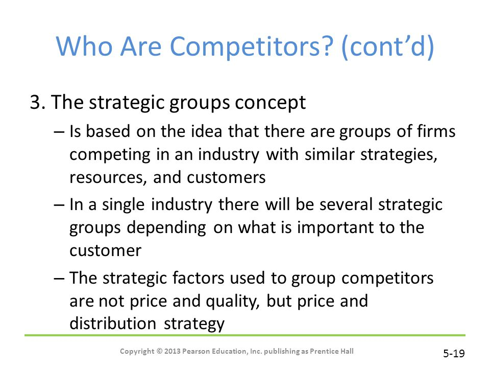 Who Are Competitors (cont'd)