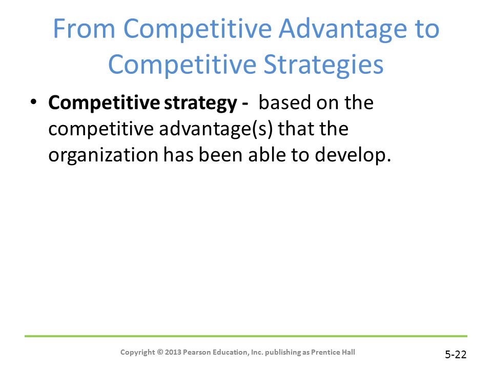 From Competitive Advantage to Competitive Strategies