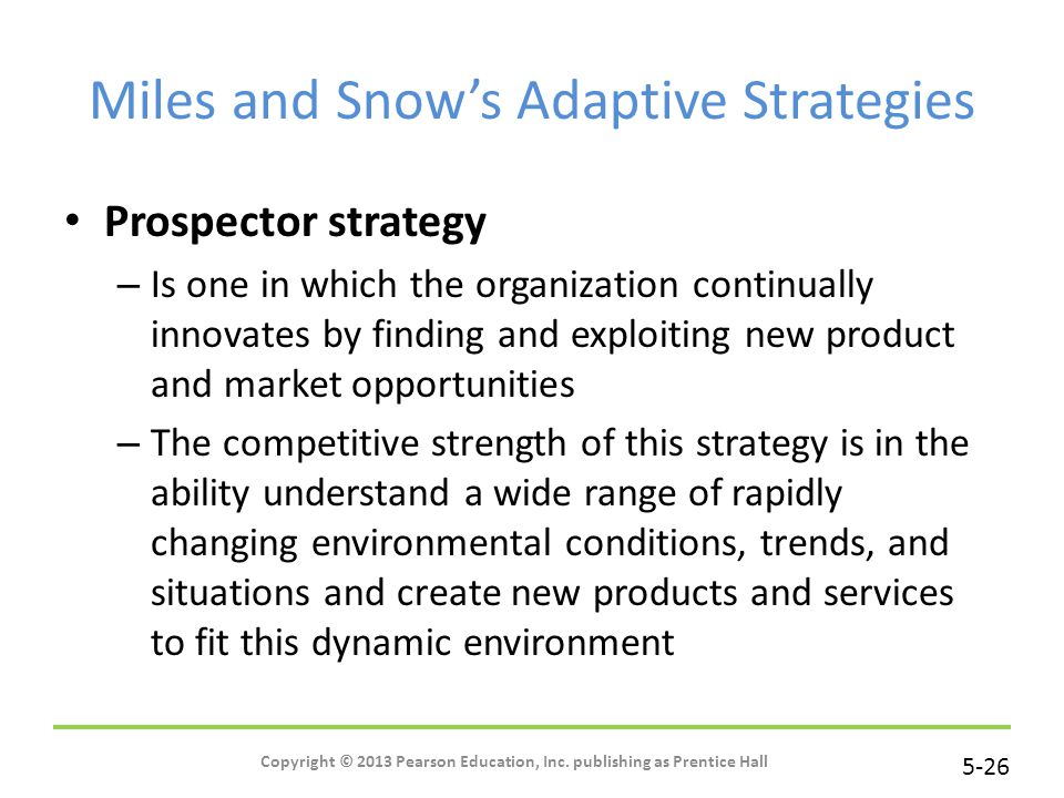 Miles and Snow's Adaptive Strategies