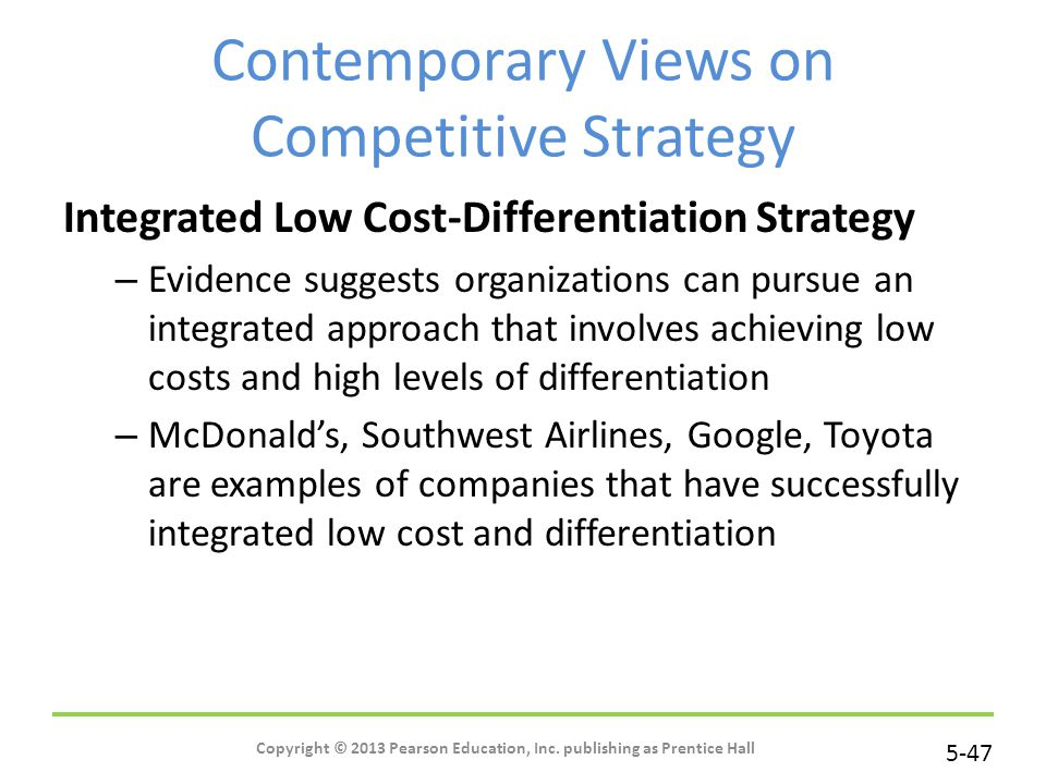 Contemporary Views on Competitive Strategy