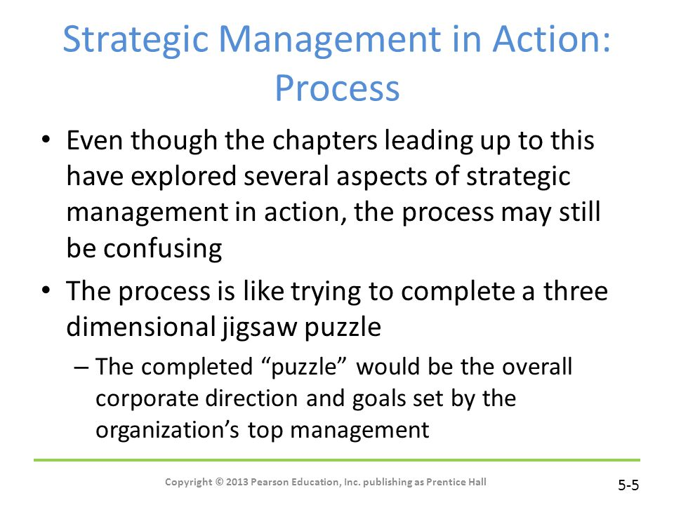 Strategic Management in Action: Process