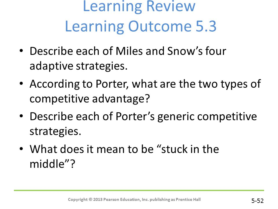 Learning Review Learning Outcome 5.3