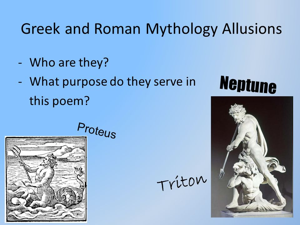 Greek and Roman Mythology Allusions