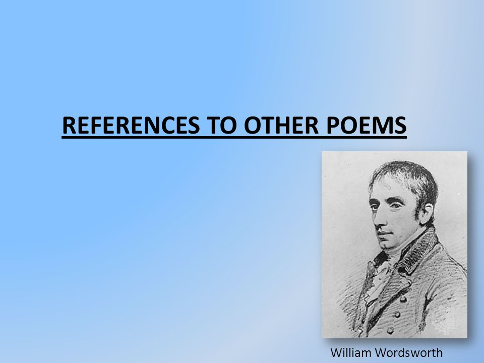 References to other poems
