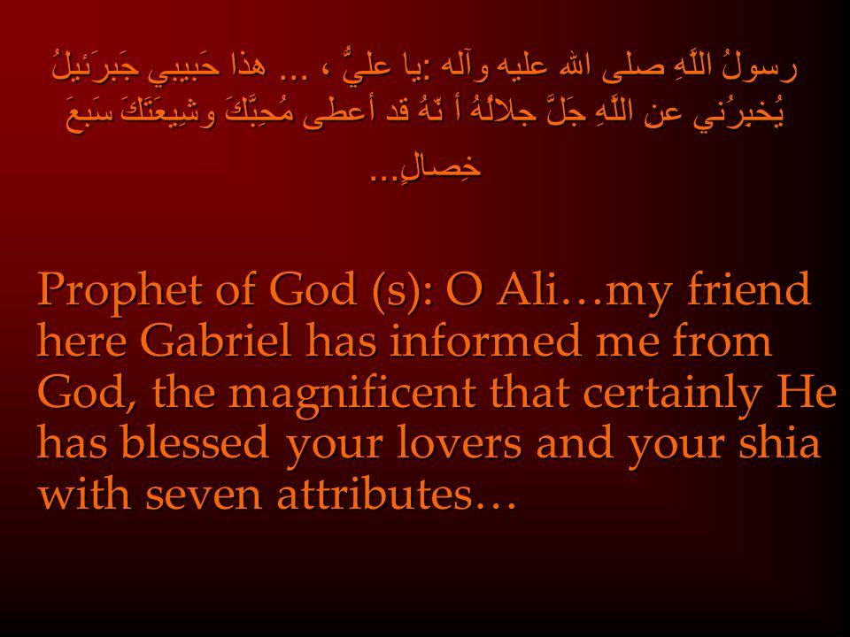 رسولُ اللَّهِ صلى الله عليه وآله :يا عليُّ ،