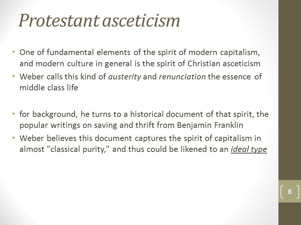 Protestant asceticism