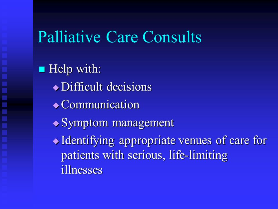 Palliative Care Consults