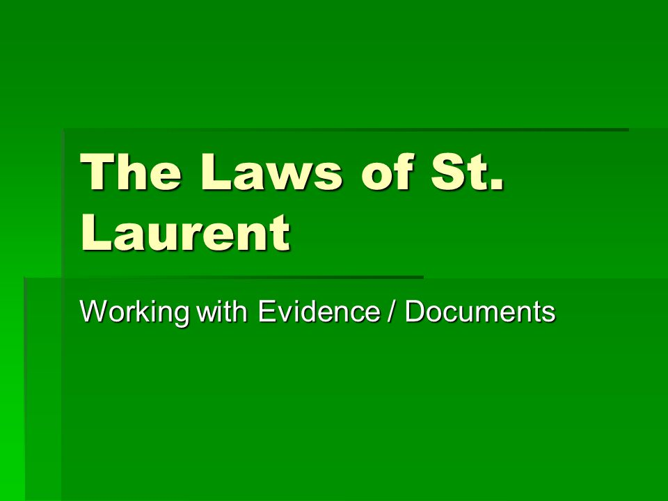 Working with Evidence / Documents
