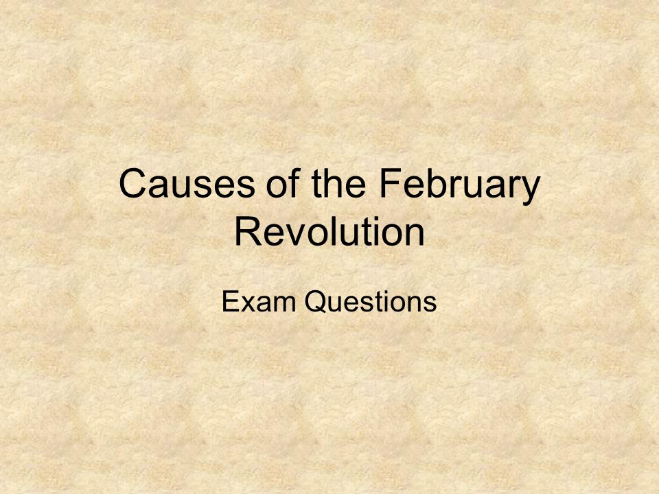 Causes of the February Revolution