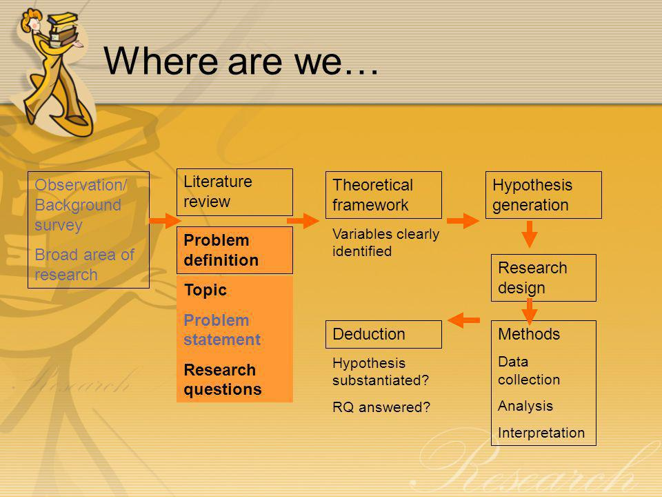 Where are we… Observation/ Background survey Broad area of research