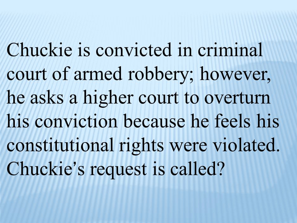 Chuckie is convicted in criminal