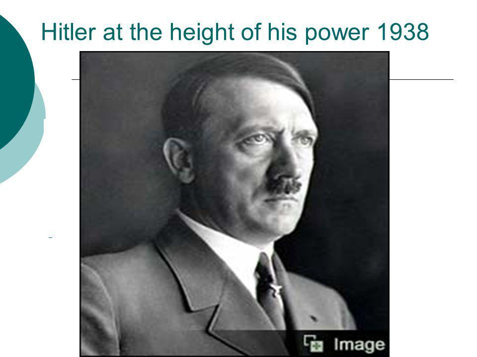 Hitler at the height of his power 1938