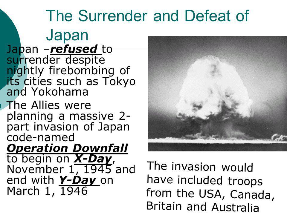 The Surrender and Defeat of Japan