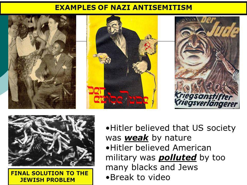 EXAMPLES OF NAZI ANTISEMITISM
