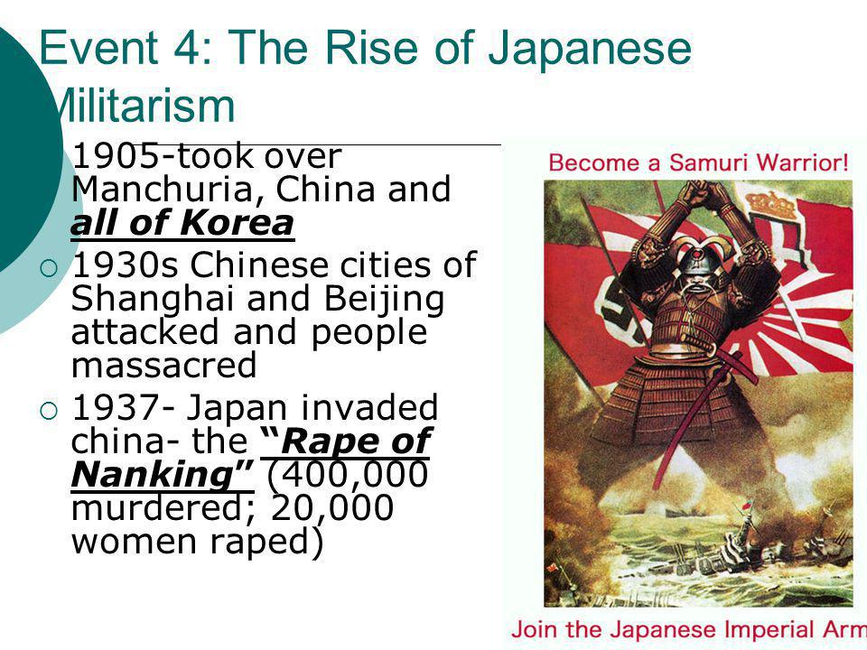 Event 4: The Rise of Japanese Militarism