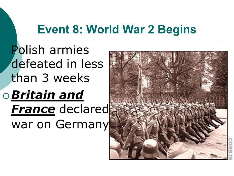 Event 8: World War 2 Begins