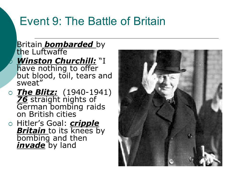 Event 9: The Battle of Britain