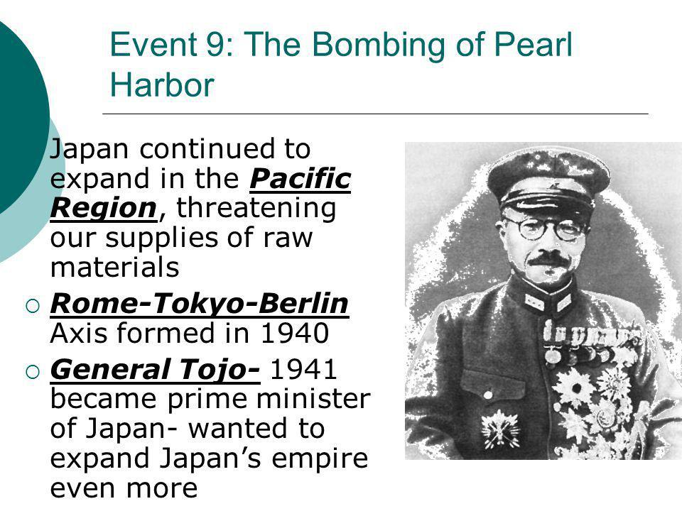 Event 9: The Bombing of Pearl Harbor