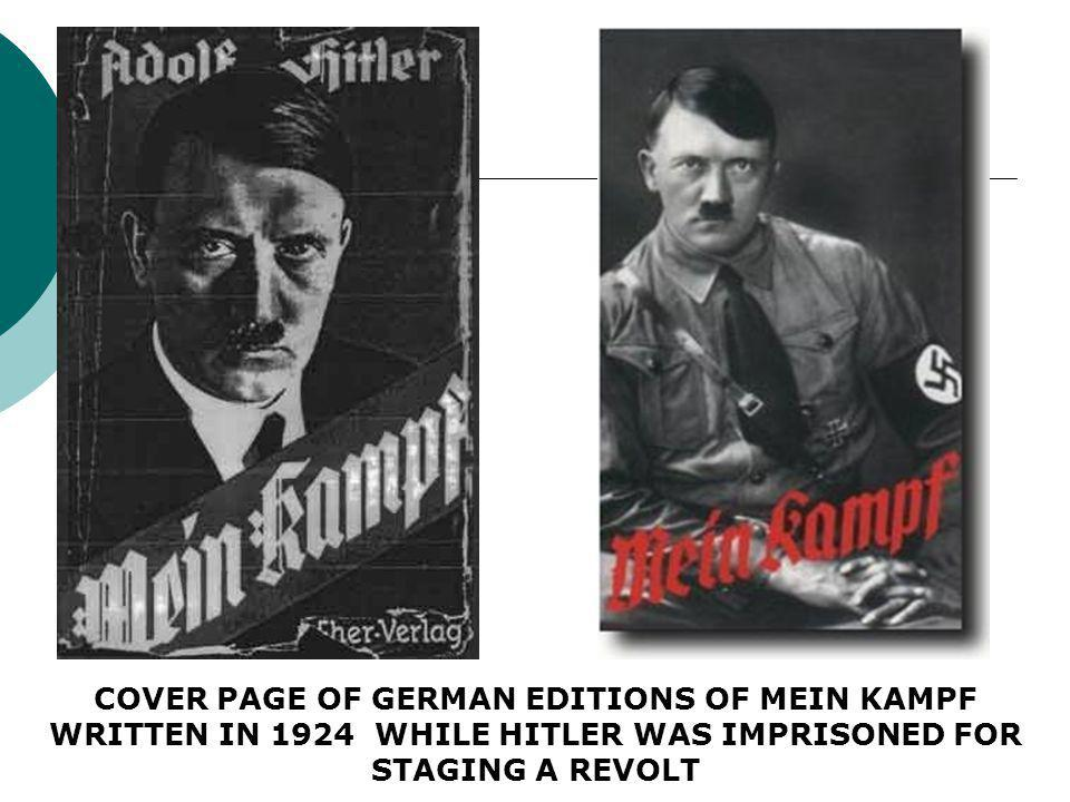 MEIN KAMPF: BOOK BY HITLER ON HIS POLITICAL VIEWS