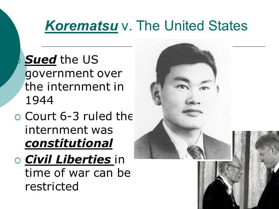 Korematsu v. The United States