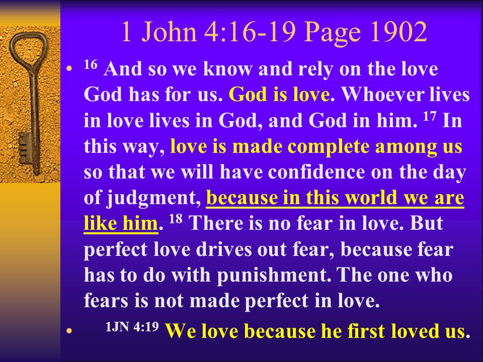 1 John 4:16-19 Page 1902