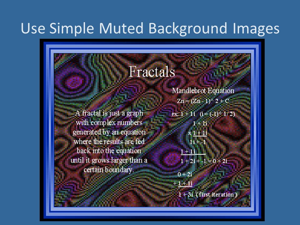 Use Simple Muted Background Images