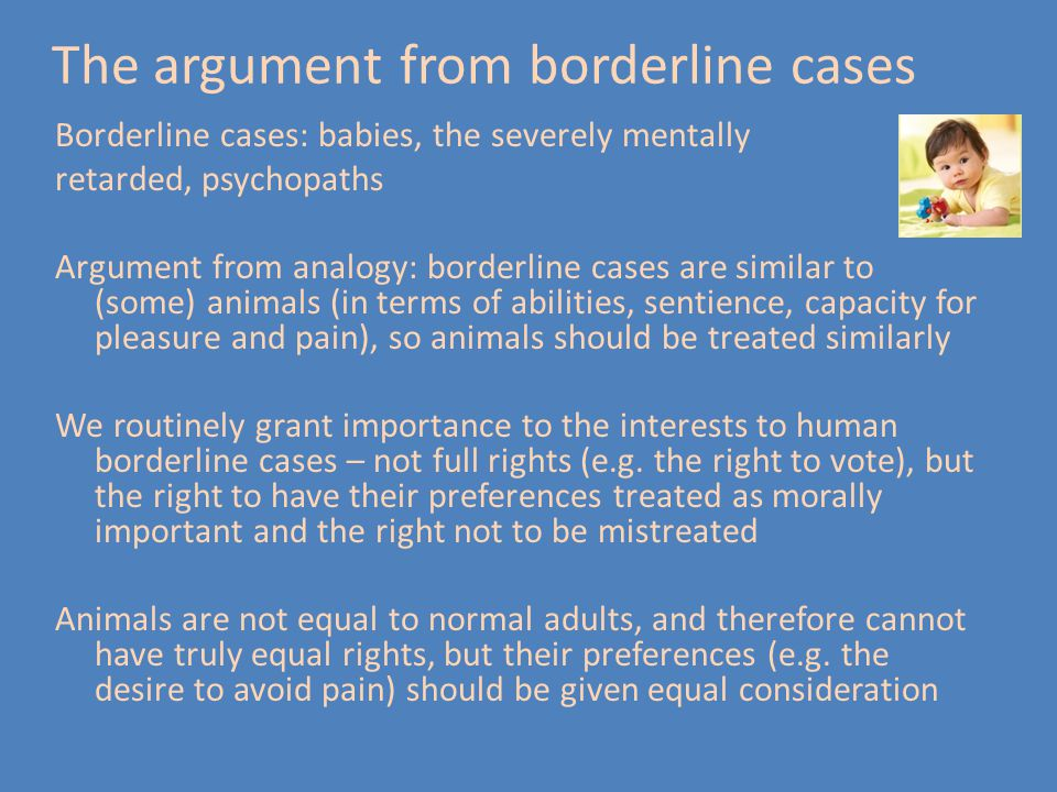 The argument from borderline cases